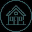 Ikon viser et hus