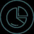 Ikon viser et lagkagediagram